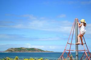 jeux enfants camping les 7 iles à Trelevern proche de Perros Guirrec dans les côtes d'Armor